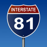 Landstraßenzeichen für zwischenstaatlichen Weg 81 vektor abbildung