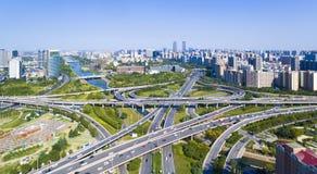 Landstraßenzhengzhou-Porzellan lizenzfreie stockfotografie