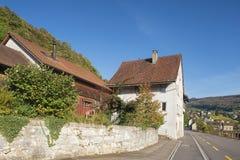 Landstrasse街道在Baden,瑞士 免版税库存图片