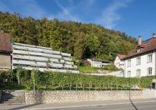 Landstrasse street in Baden, Switzerland Royalty Free Stock Photos