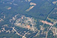 Landstreekhuisvesting in Georgië dichtbij Atlanta Royalty-vrije Stock Afbeelding
