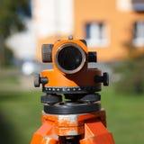 Landsurveyor utrustningteodolit Royaltyfri Fotografi