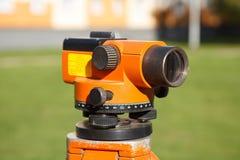 Landsurveyor utrustningteodolit Royaltyfria Bilder
