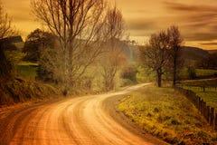 Landsväg i Australien royaltyfri bild