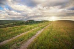 Landsväg i bergen Fotografering för Bildbyråer