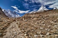 Landsväg i bergen Arkivfoto