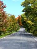 Landsväg i nedgång arkivbilder