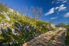 Landsväg, Montenegro Royaltyfri Bild