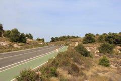 landsväg spain Royaltyfria Bilder