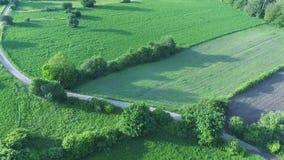 Landsvägen till och med fälten och betar