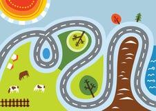 landsväg Vektor Illustrationer