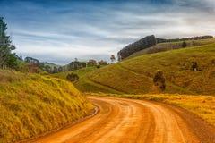 Landsväg i Australien Arkivbild