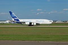 Landung A380 Lizenzfreie Stockfotografie