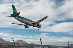 Landung Aer Linguss Aircraf Stockfoto