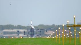 Landung Airfreighter 747 stock video