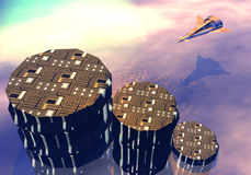 Landung der Raumfähre lizenzfreie abbildung