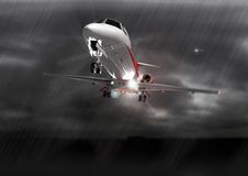 Landung im falschen Wetter Stockfoto