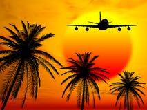 Landung im Paradies Lizenzfreie Stockfotos