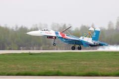 Landung SU-27 Lizenzfreies Stockfoto