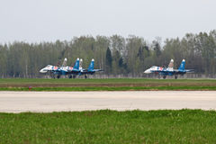 Landung SU-27 Stockfoto