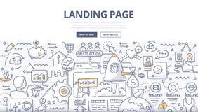 Landungs-Seiten-Gekritzel-Konzept lizenzfreie abbildung