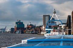 Landungsbrucken pier in Hamburg Germany royalty free stock images