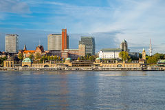 The Landungsbruecken in Hamburg. The famous Landungsbruecken in Hamburg, Germany, with the river Elbe stock photography
