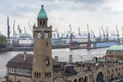 Landungsbruecken hamburg germany Royalty Free Stock Photos