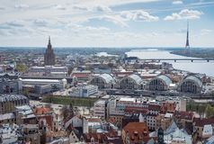Landview de Riga photographie stock libre de droits