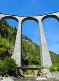 Landwasser viaduct in Filisur Stock Photography
