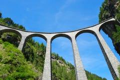 Landwasser viaduct in Filisur Stock Photos