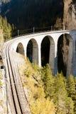 Landwasserviadukt, Suíça Fotografia de Stock