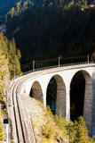 Landwasserviadukt, Szwajcaria Fotografia Royalty Free