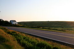 Landweg Royalty-vrije Stock Foto's