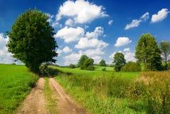 Landweg. Royalty-vrije Stock Foto's