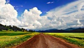 Landweg Royalty-vrije Stock Afbeeldingen