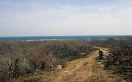 Landweg aan Oceaan Royalty-vrije Stock Fotografie