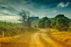 Landweg in Australië Stock Afbeeldingen