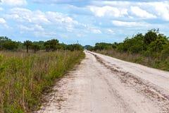 Landweg in de Aarddomein van Florida Stock Foto's