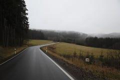 Landweg in de herfst Royalty-vrije Stock Fotografie