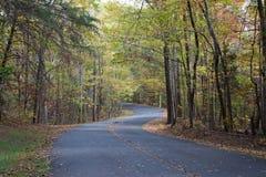 Landweg in de herfst Royalty-vrije Stock Foto's