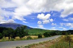 Landweg, de Lentelandschap stock afbeeldingen