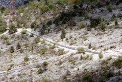 Landweg in de Vallei van de Dood Stock Fotografie
