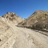 Landweg in de Vallei van de Dood. Royalty-vrije Stock Foto
