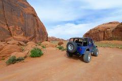 Landweg in de Vallei van het Monument Stock Foto's