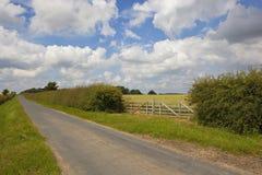 Landweg en poort Royalty-vrije Stock Afbeelding