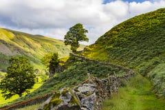 Landweg entlang einer Bauernhofwand Lizenzfreies Stockbild