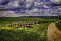 Landweg HDR royalty-vrije stock foto