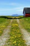 Landweg in het platteland Royalty-vrije Stock Afbeelding