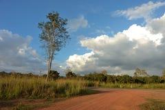 Landweg in land royalty-vrije stock foto's